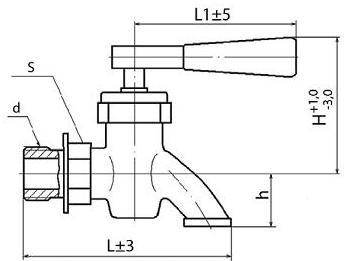 Кран пробно-спускной с изогнутым спуском 10Б8бк1 (ПЗ.37015)