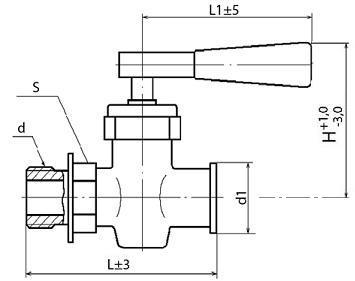 Кран пробно-спускной с прямым спуском 10Б9бк1 (ПЗ.37016)