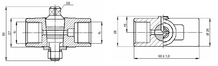 Кран трехходовый 11Б38бк4, 11Б38бк5, 11Б38бк6, 11Б38бк7 (ВИЛН.491712.008)