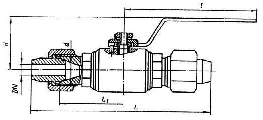 Кран шаровой 11с35п