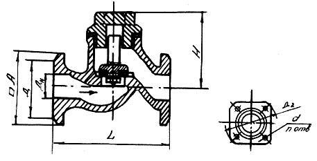 Клапан обратный 16кч3п, 16кч3р (СЗ 41007)