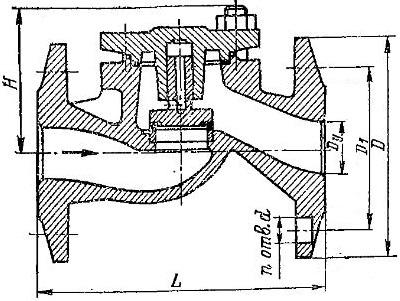 Клапан обратный 16кч9п, 16кч9нж (СЗ 41008)