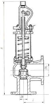 Клапан предохранительный 17с9нж, 17лс9нж, 17нж9нж (СППК4Р 25-160)