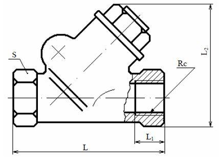 Затвор (клапан) обратный 19Б4бк, 19Б4нж (ВИЛН.494412)