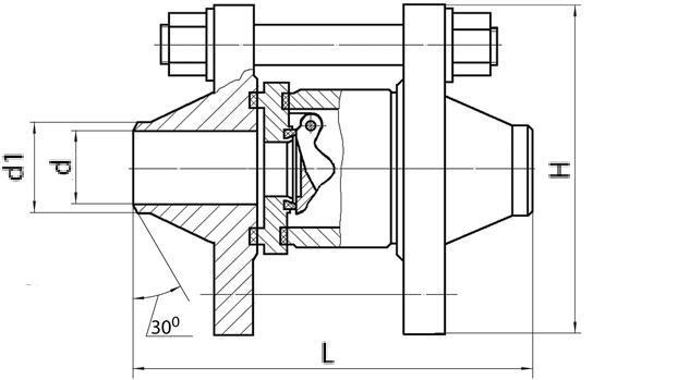 Затвор (клапан) обратный 19с25п3 (ПТ.44115-040) Ду40 Ру63