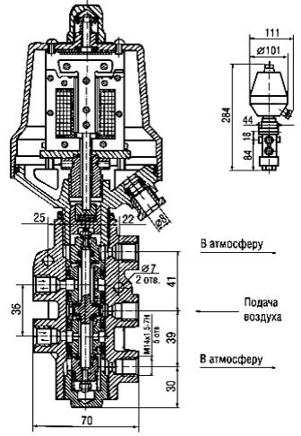 Распределитель пневматический электромагнитный 23кч802р