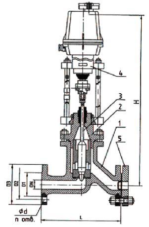 Клапан запорно-регулирующий 25ч945бр КЗР (ГА 22001)