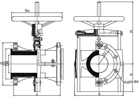 Задвижка шланговая 32а1р (БПА 98014)