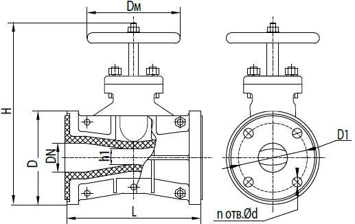 Задвижка шланговая 33а23р (П 98049)