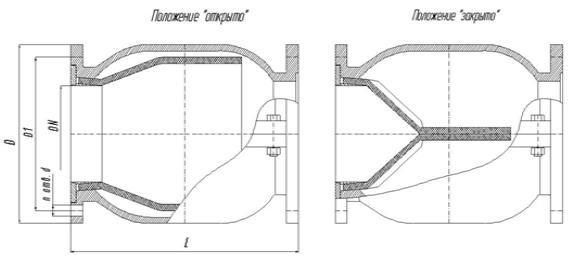 Клапан обратный БПА 43001
