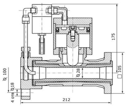 Устройство аварийного закрытия трубопровода БПА96001