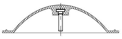 Диафрагма (мембрана) для клапана 15ч74п, 15ч75п, 15ч76п