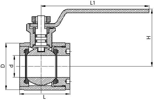 Кран шаровой КШГ-32, КШГ-40, КШГ-50 (ВИЛН.491819)