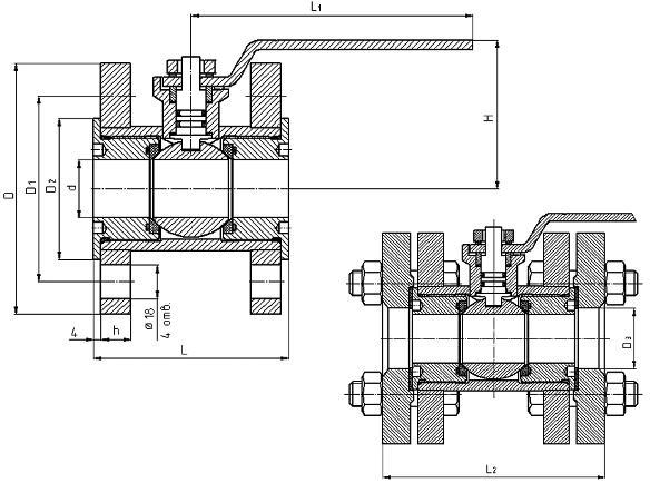 Кран шаровой КШГ (ВИЛН.491819)