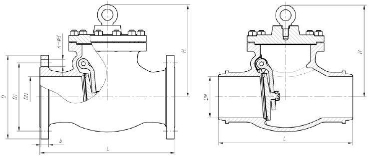 Затвор (клапан) обратный МЗ 44092