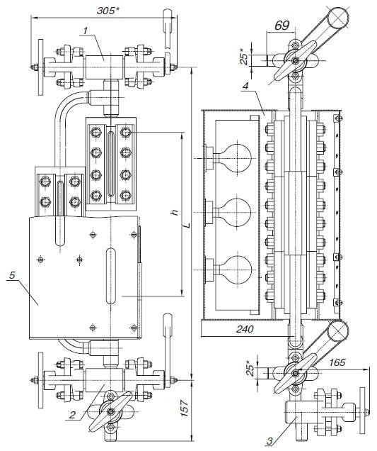 Прибор водоуказательный Т-74бм, Т-228б, Т-229б