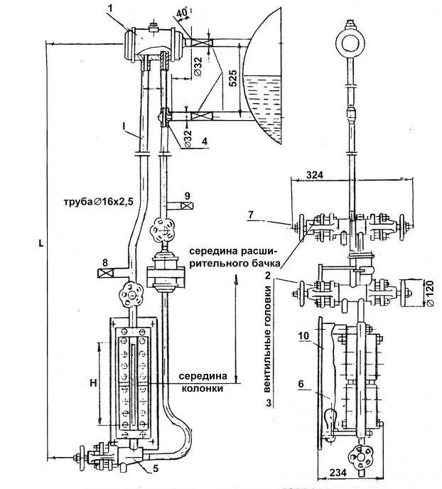 Указатель уровня Т-30б, Т-230б