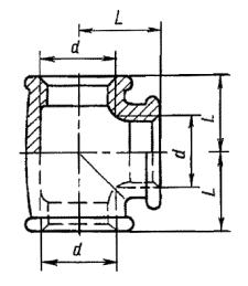 Тройник ГОСТ 8948-75