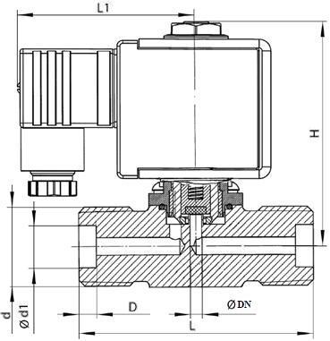 Клапан электромагнитный ВИЛН.492171.003