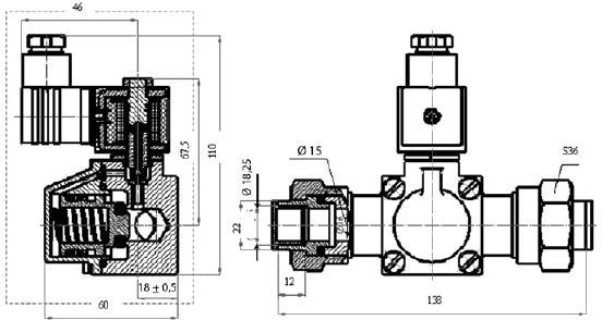 Клапан электромагнитный ВИЛН.492172.016-03